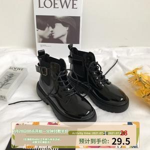 小sun家韩版ins英伦风马丁靴女鞋子2021年新款靴子百搭机车短靴潮