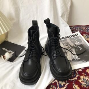 小sun家马丁靴冬季加绒女2021新款厚底机车英伦ins靴子潮春秋单靴