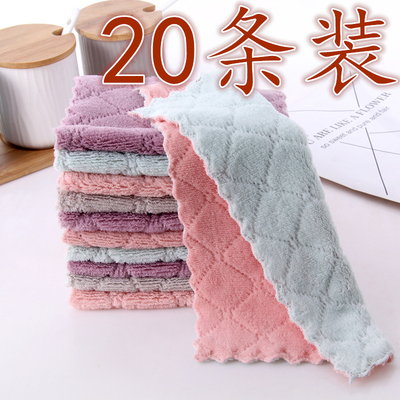 Thickened rags, kitchen supplies, housework cleaning cloths, basically no lint, no oil, dish towels, and table dish cloths