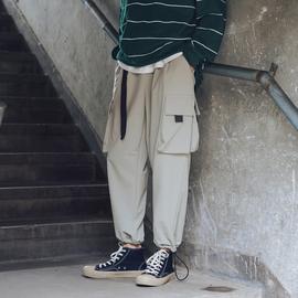 第四十九天春秋季工装裤男哈伦裤潮流休闲裤子日系长裤宽松小脚裤