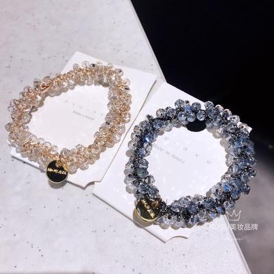 韩国东大门水晶发圈珍珠高质量发绳网红气质丸子头扎发头绳皮筋女
