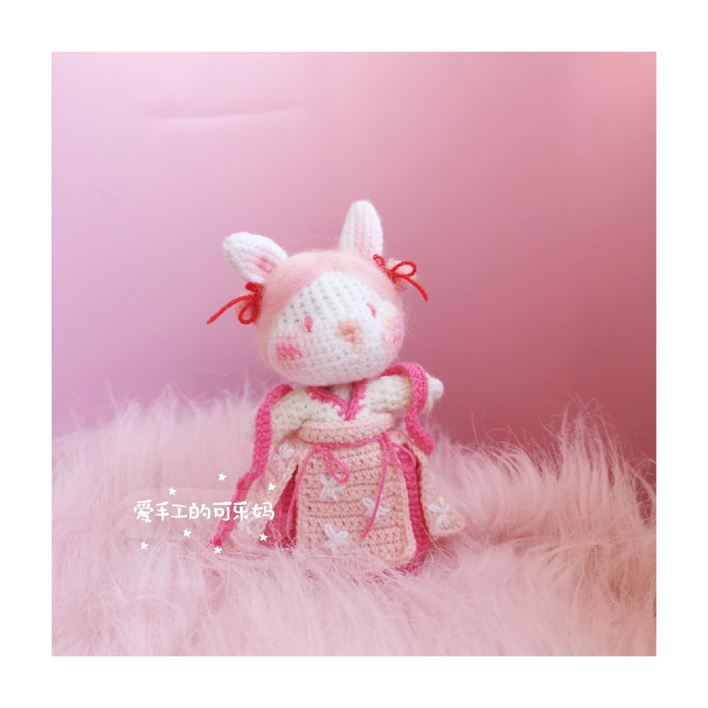 [handmade Cola mother] original Crochet doll Change rabbit small milk rabbit graphic text electronic graphic
