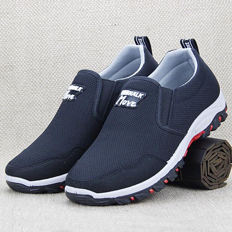 中年男士鞋子男休闲鞋男鞋夏季2019新款透气夏布鞋无鞋带薄款单鞋