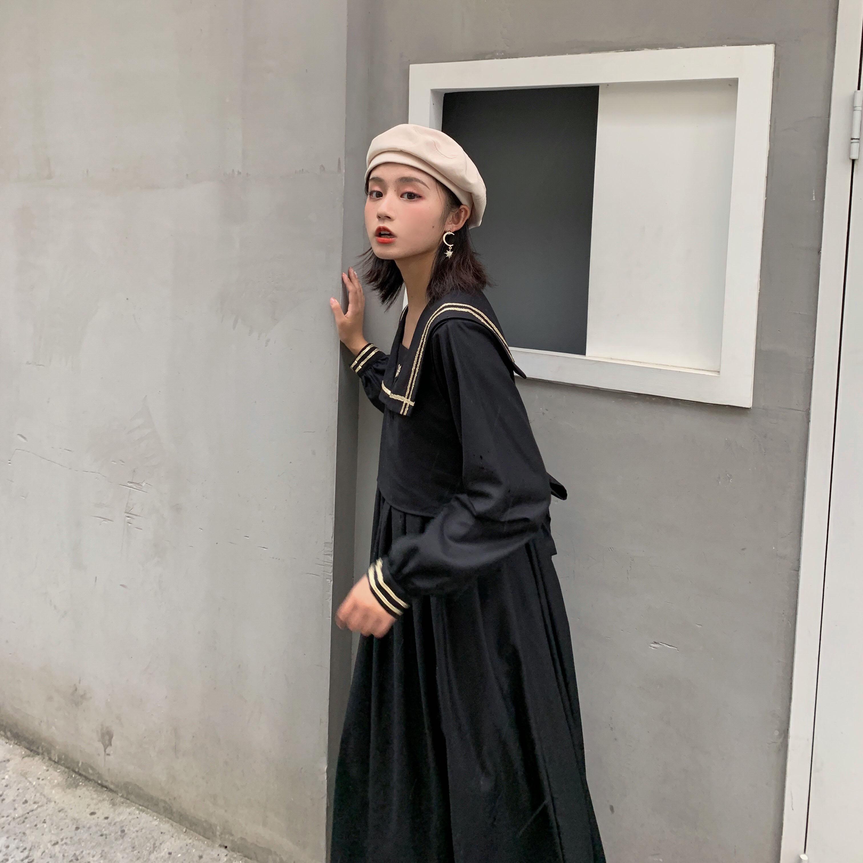 (用60元券)樱田川岛ins韩版秋季2019连衣裙