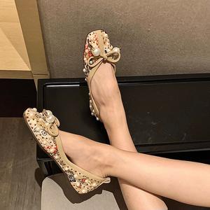 X-25083# 新款平底尖头单鞋女 鞋子批发女鞋货源