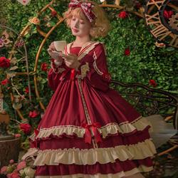 贝蒂小姐lolitaop长袖原创裙正品现货复古宫廷风高腰洛丽塔公主裙