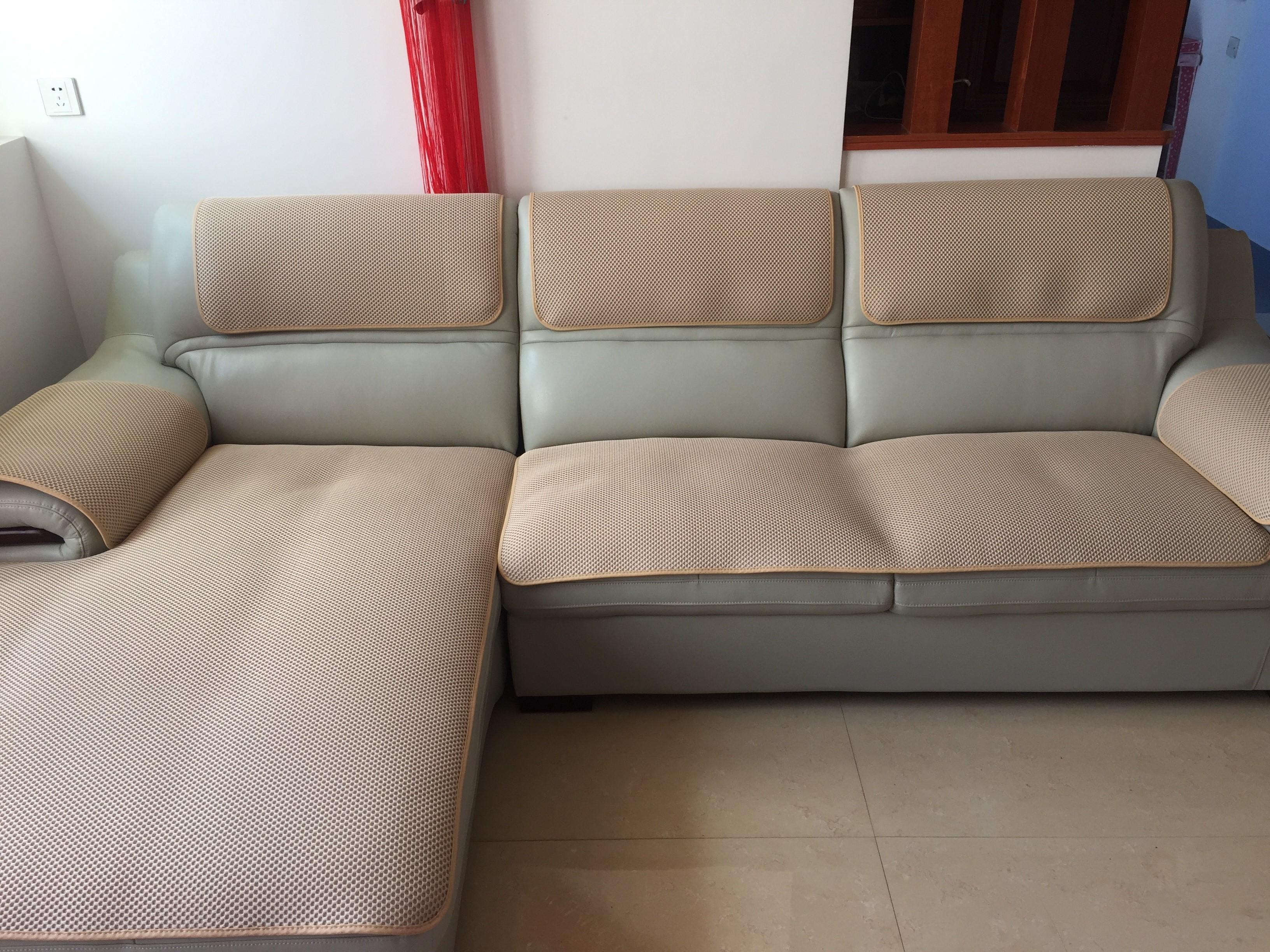 顾家门店家居同款真皮沙发坐垫定做防滑四季垫布艺包邮 3D三明治