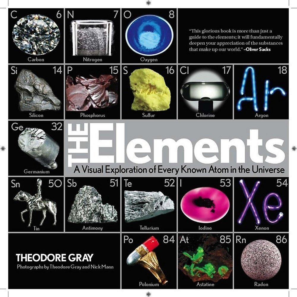 【中商原版】元素:宇宙已知原子的视觉探索 英文原版书籍 The Elements Nick Mann Theodore Gray 科普读物 精装