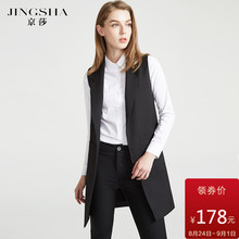Long and medium-length waistcoat for women in waistcoat, new style of women's wear in spring and autumn of 2019, black vest, body-building suit, sleeveless vest jacket