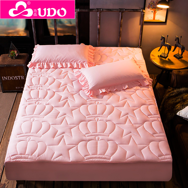 Fitted sheet single piece thickened cotton insulation Simmons protective cover sheet bedspread 1.8m bedspread mattress cover dust cover