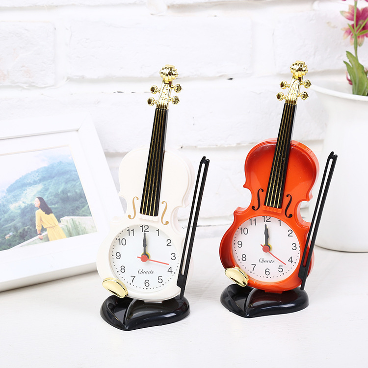 迷你版小号提琴创意可爱小礼品闹钟有赠品