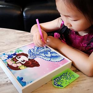 领2元券购买儿童钻石贴画 母亲节幼儿园手工diy制作材料包女孩小学生玩具作品
