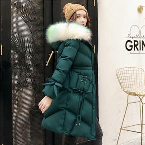 棉衣女中长款2020冬季新款女装韩版宽松显瘦羽绒棉服时尚棉袄外套