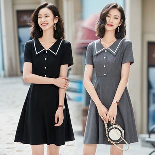 夏季短袖女装修身连衣裙 OL风格中腰一步裙 女士精品工作服职业装
