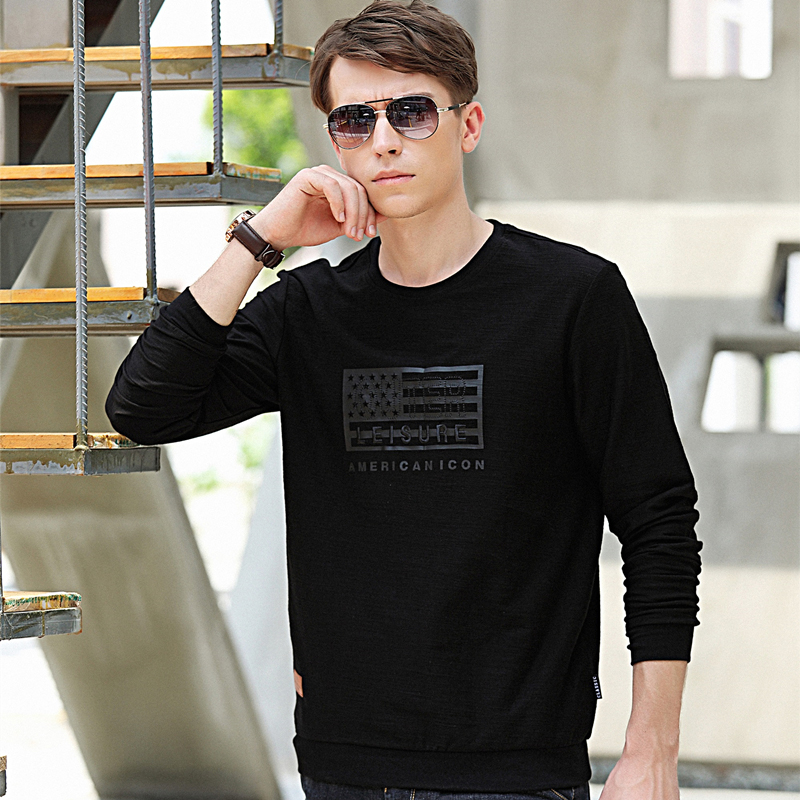 Shenzhou camel long sleeve T-shirt spring and autumn round neck Korean loose leisure sports base shirt mens Pullover