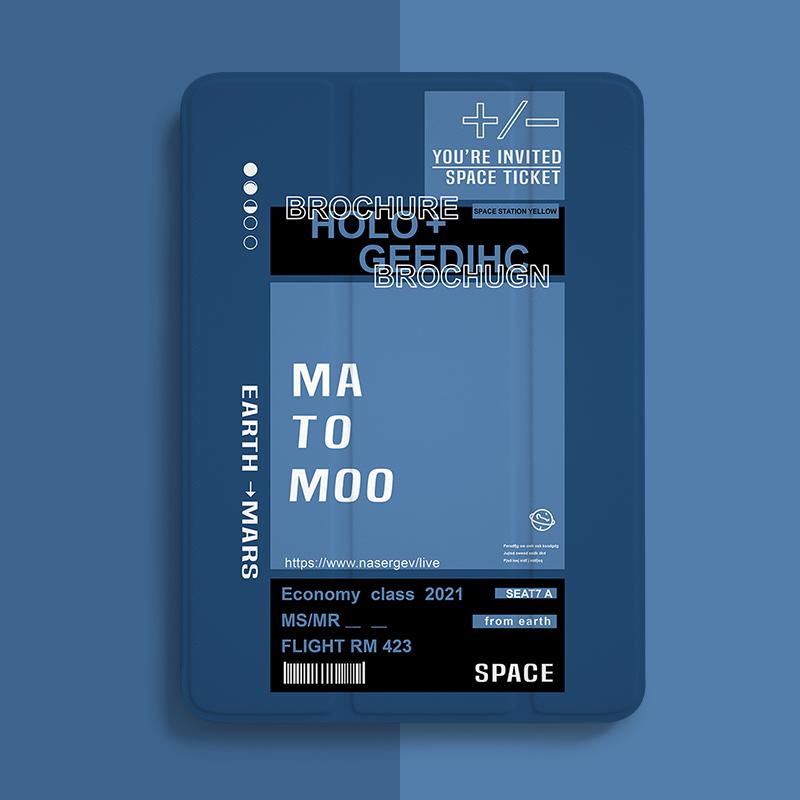 ipad8保护壳2020带笔槽air4网红ins风mini5第八代pro三折11平板套2021书本式air3适用苹果9.7寸轻薄迷你软壳