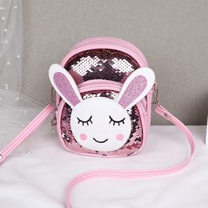 韩版儿童包包女童斜挎包时尚公主女孩宝宝可爱小兔子亮片单肩背包