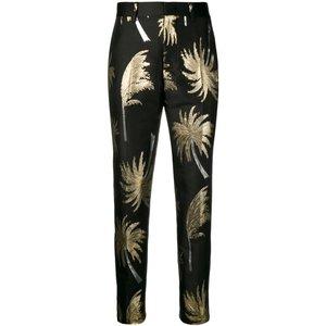 代购2018 Msgm 女士 金属感棕榈树裤子