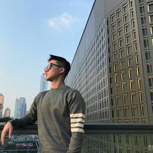 tb套头毛衣男ins网红韩版长袖外穿针织衫2019秋冬修身打底衫情侣