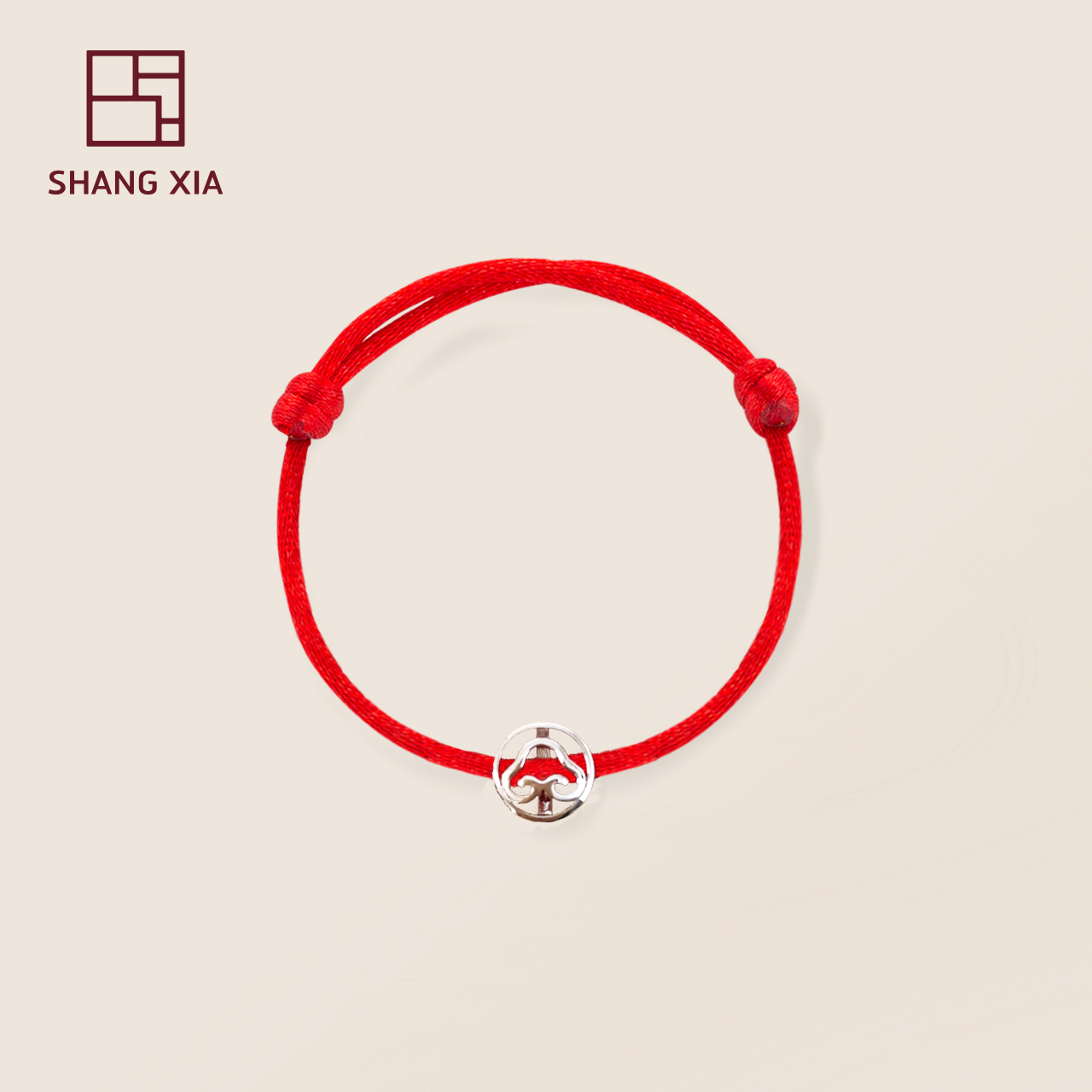 Up and down 925 silver transfer beads mother baby parent-child Ruyi lucky red rope lifeline Bracelet