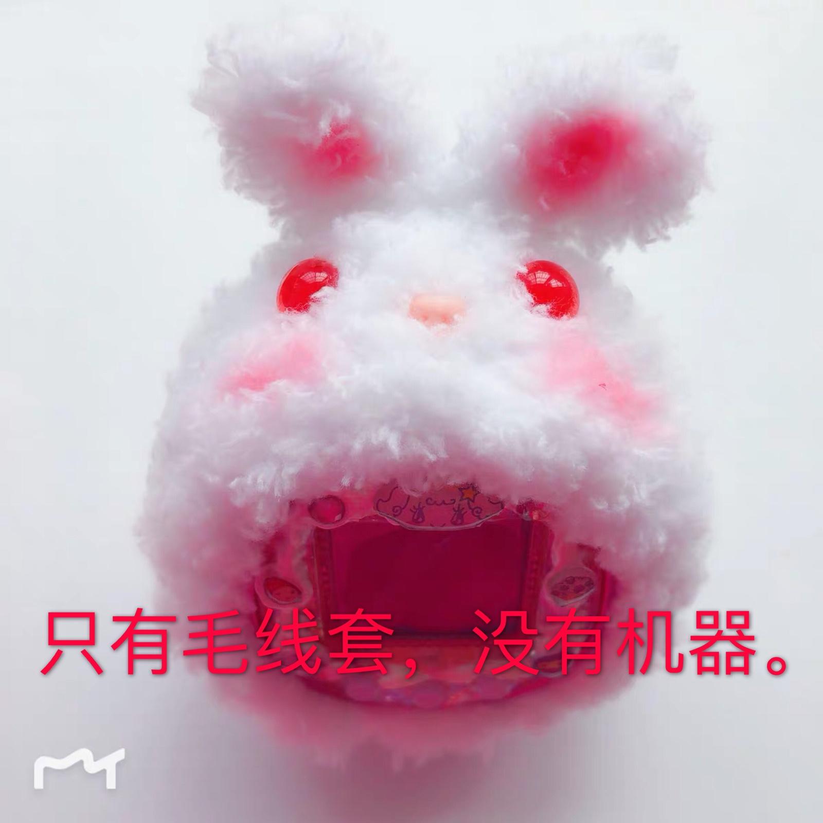 【锦然时光】兔子耳朵拓麻歌子电子宠物保护毛线套4u 4u+ mix ps(用1元券)
