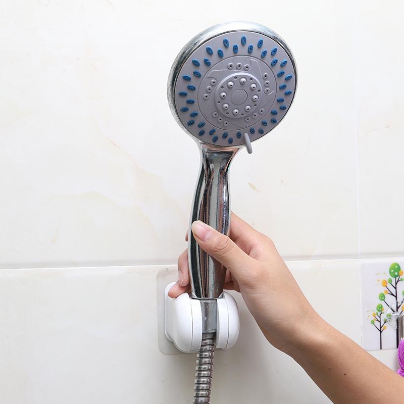 壁掛淋浴噴頭固定座可調節免打孔花灑座淋浴頭掛架浴室蓮蓬頭支架