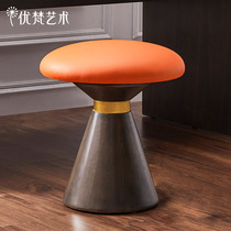 Pacino Art of the American modern simple wooden small bedroom makeup stool entrance change shoes small stool soft bag