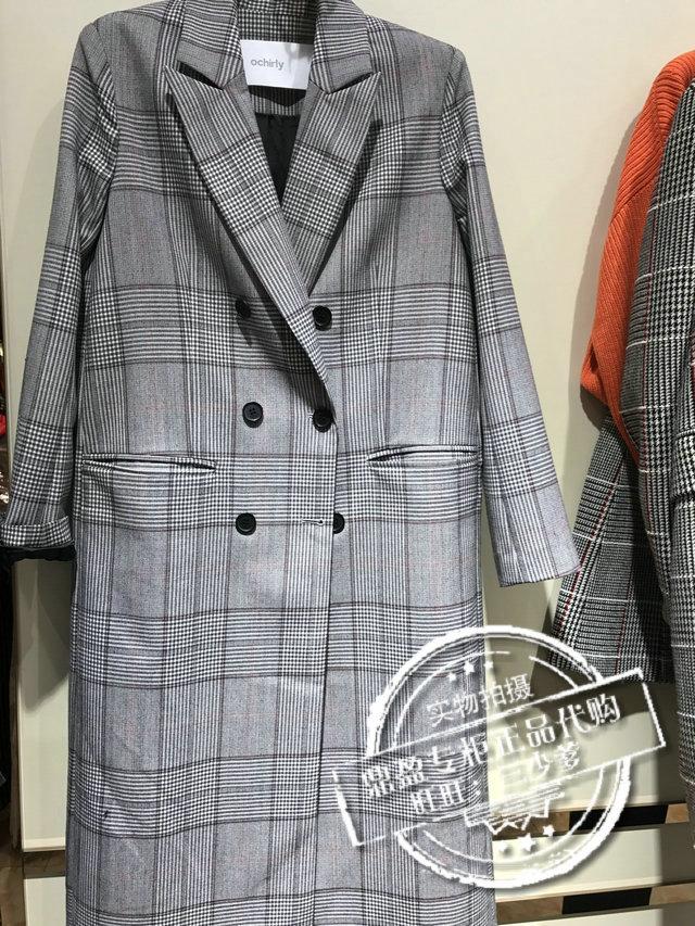 欧时力2017专柜正品1jy3346270毛呢羊毛大衣外套风衣6折