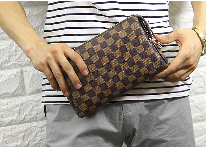 潮英伦范多功能男士长款拉链钱包手拿包大容量休闲男包,带密码锁