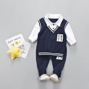 男童秋裝套裝2020新款兒童秋季韓版學院風兩件套帥氣寶寶小童裝潮