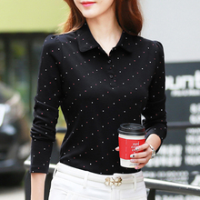 Spring and Autumn 2009 New Women's Dress Top Bottom Shirt Point Turn-lapel T-shirt for Mother's Clothes