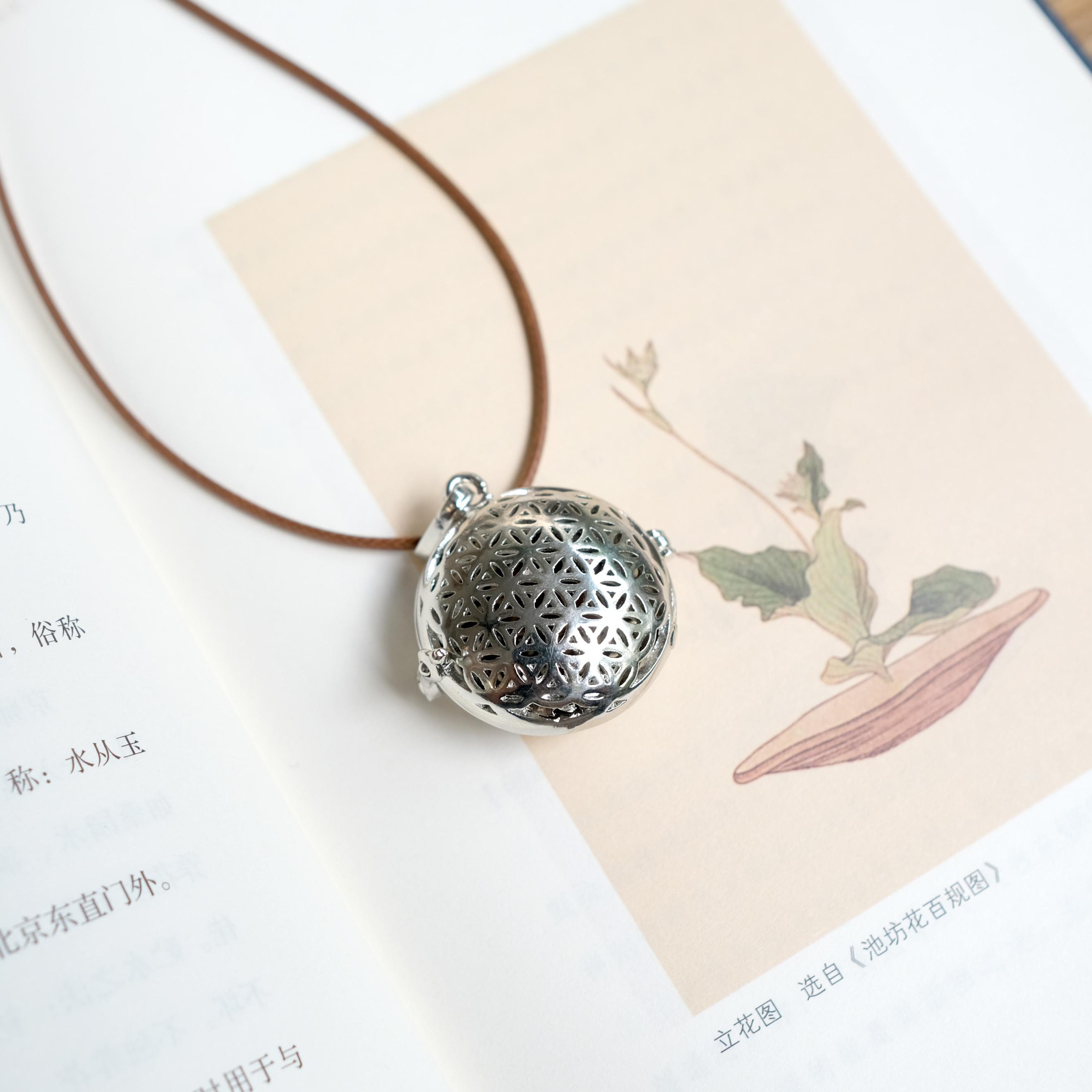 不二真香   古方天然合香香坠项链 近体香 掐丝珍珠 彩色珐琅