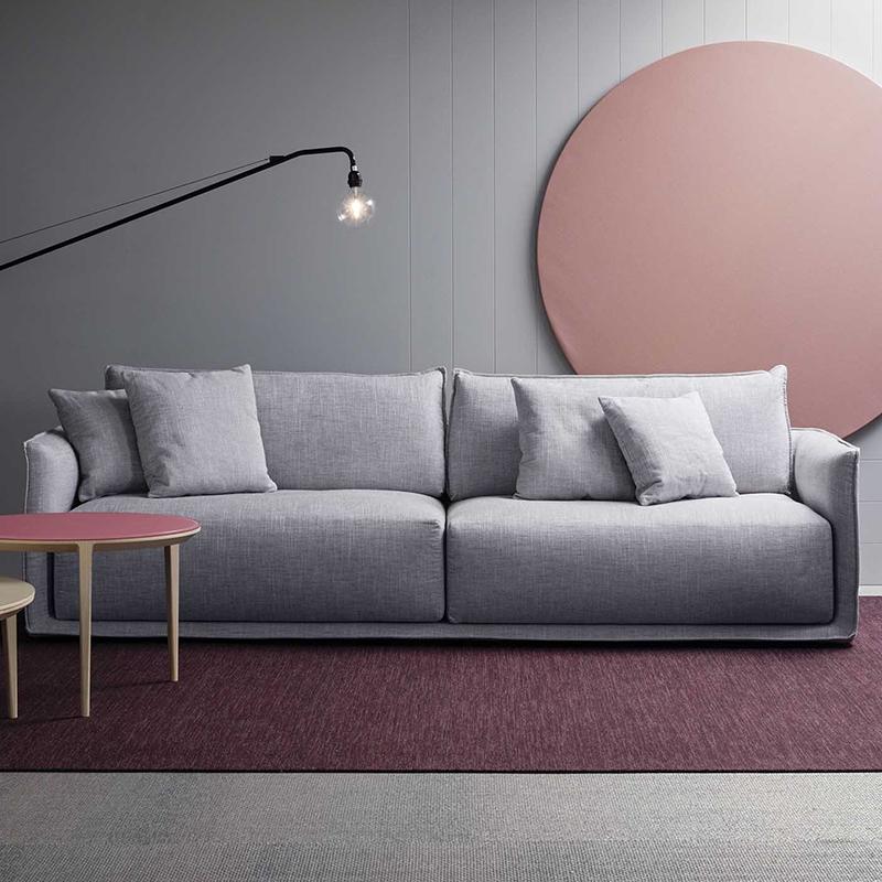 简约现代羽绒布艺沙发可拆洗乳胶双人三人位中小户型客厅北欧沙发