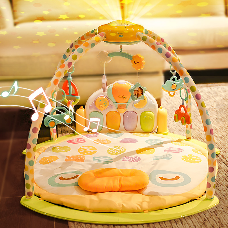 谷雨器脚踏钢琴0-3-6个1岁健身架