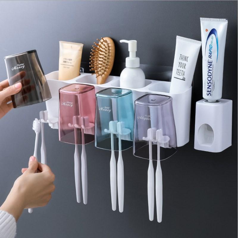 懒人创意家居日用品实用韩国牙刷架