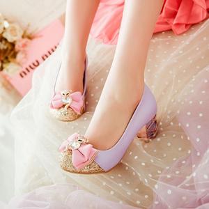 春秋韩版女童皮鞋小女孩儿童高跟鞋大童学生公主鞋演出舞蹈表演鞋
