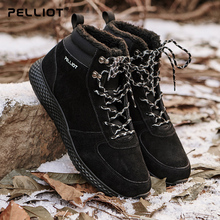 Percy and outdoor snow boots, men and women, autumn and winter, waterproof, warm, casual shoes, cotton shoes, ski and snowshoes.