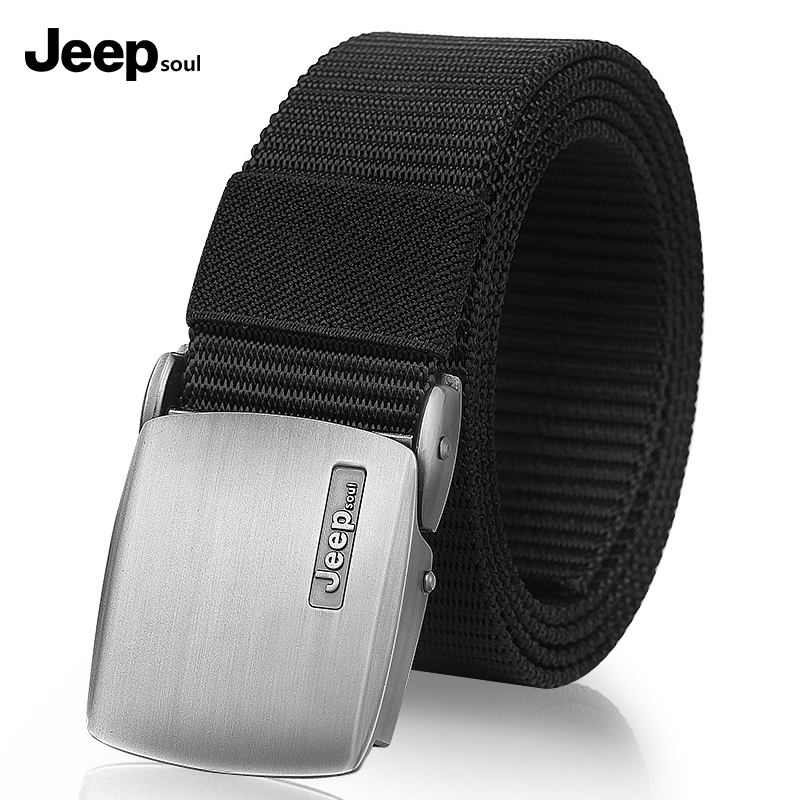 Jeep soul canvas belt male youth student belt male casual Korean version simple nylon belt young people