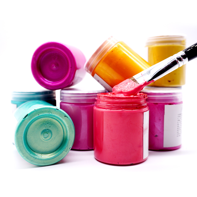 Pearlescent acrylic hand painted wall painting DIY graffiti pigment 100ml 300ml environmental protection waterproof shoes and clothes