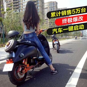 火猫小龟王电瓶车双人踏板电摩托车
