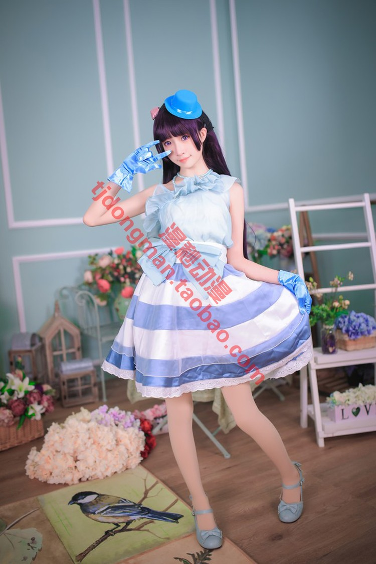 How can my sister have such a lovely five watch glass show costume Cosplay custom made Costume Wig custom made