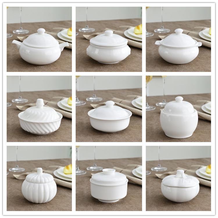 家用矮炖盅陶瓷骨瓷一人份小 创意纯白燕窝鱼翅补品隔水汤盅带盖