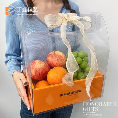 高档通用包装盒透明手提袋水果礼盒空盒子蛋糕礼品盒中秋节礼物盒