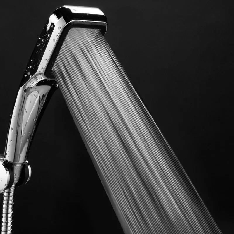 增压花洒喷头方形洗澡浴室热水器淋浴手持加压莲蓬头花晒软管套装