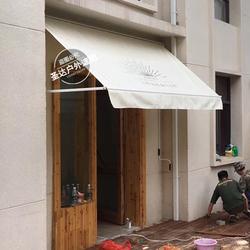 厂家定做欧式曲臂式伸缩雨棚咖啡店门头摆臂篷遮阳篷固定棚遮雨蓬