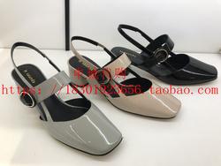 莱尔斯丹女鞋 国内专柜正品代购2018春夏款中跟方头单鞋女9M33701