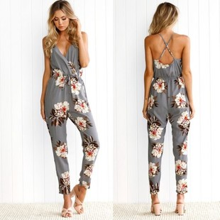 Blomstrete jumpsuits dame