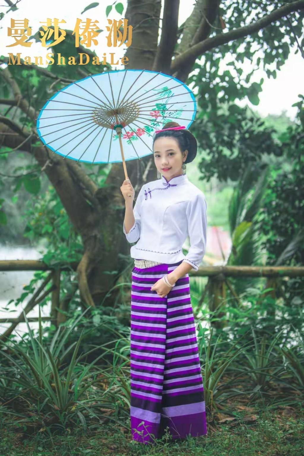 曼莎傣泐380夏季新品西双版纳傣族女装舞蹈日常服民族服饰母亲节1