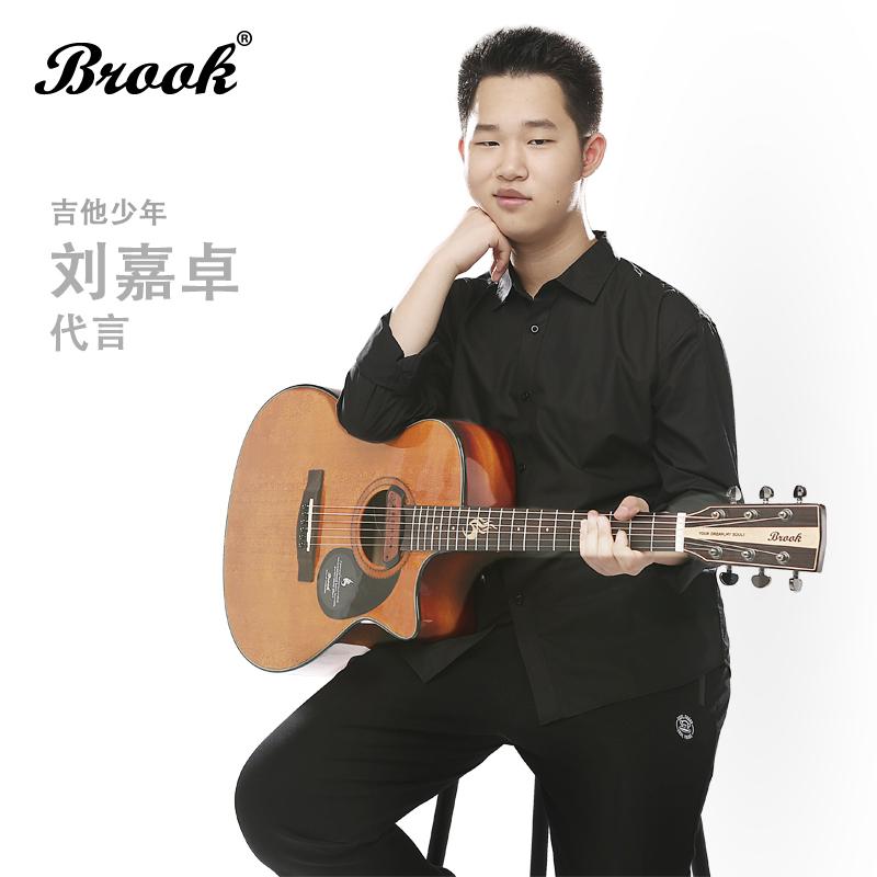 10月10日最新优惠Brook布鲁克吉他s25 41寸40寸36寸民谣吉他单板电箱吉它 5周年