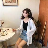 夏季2019新款仙女防晒衣女中长款开衫雪纺上衣百搭薄款防晒外套潮